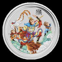 1 oz eingefärbte Silbermünze - Affenkönig - Perth Prägeanstalt 2016