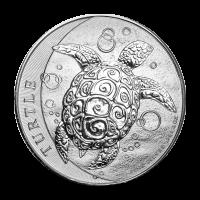 2 oz Silbermünze - Karettschildkröte - Piedfort 2016