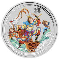 5 oz eingefärbte Silbermünze - Affenkönig - Perth Prägeanstalt 2016