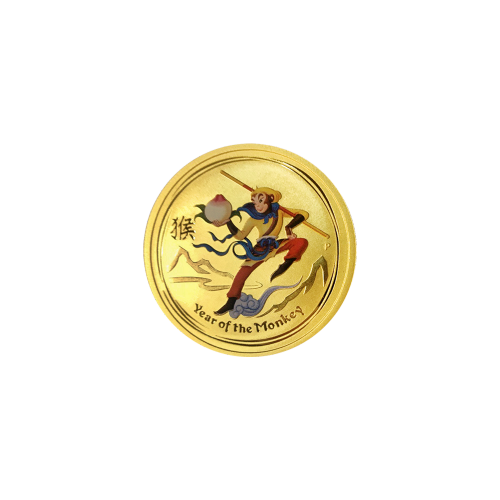 1/20 oz 2016 Perth Mint Monkey King Colourized Gold Coin