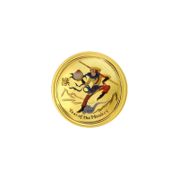 1/20 oz 2016 Perth Mint Koningsaap Gekleurde Gouden Munt