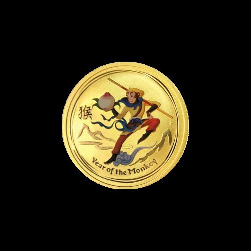 """Das Abbild von Königin Elisabeth II. und die Worte  """"Elizabeth II Australia 15 Dollars 1/10 oz 9999 Gold 2016"""" (Elisabeth II. Australien 15 Dollar 1/10 Unze 9999 Gold 2016)"""