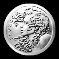 1 oz Silbermedaille - Freiheitsmädchen - 2016