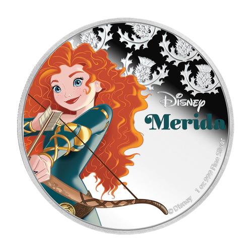 1 oz 2016 Disney Princess Merida Silver Coin