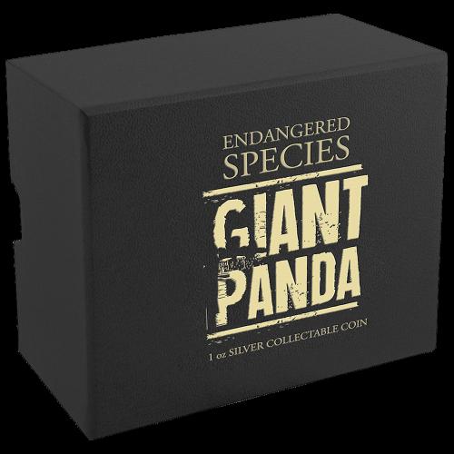 1 oz limitierte Silbermünze - vom Aussterben bedrohte Tierarten - Riesenpanda 2016