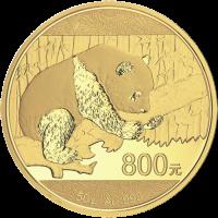 50 g limitierte Goldmünze - chinesischer Panda - 2016