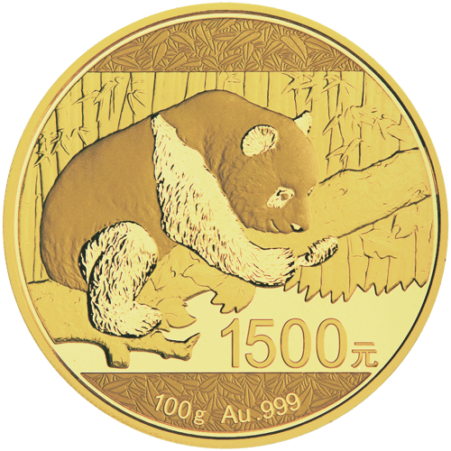 Moneda de Oro Proof Panda Chino 2016 de 100 g