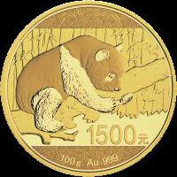 100 g limitierte Goldmünze - chinesischer Panda - 2016