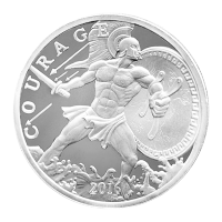 1 oz 2016 Modern Ancients Ajax Silver Round