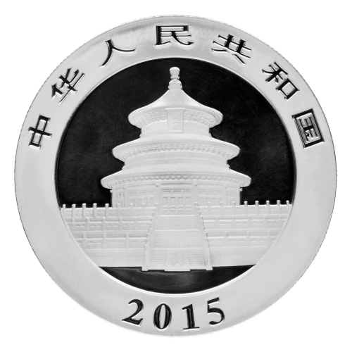 1 oz Silbermünze - chinesischer Panda MS-69 (FS) - 2015