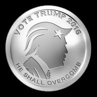 1 oz Silbermedaille - Trump wählen - 2016
