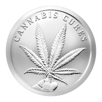 Disco in argento 1 oz 2016 Cannabis
