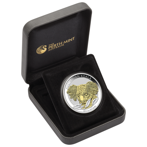 1 oz vergoldete Silbermünze - australischer Koala - 2014