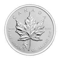 1oz 2016 Canadian Maple Leaf Bigfoot Privy Reverse Proof Silver Coin