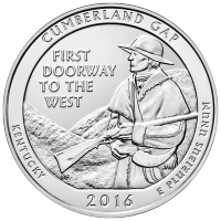 5 oz 2016 America the Beautiful | Cumberland Gap National Historic Park Silver Coin
