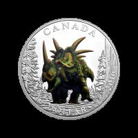 1/2 oz Silbermünze - Tag der Dinosaurier | Styracosaurus - 2016 limitiert