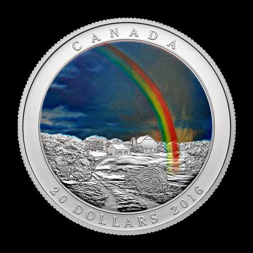 1 oz 2016 Weather Phenomenon   Radiant Rainbow Colourized Silver Proof Coin