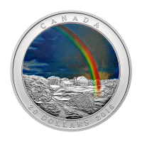 Fenómeno Climático | Moneda de Plata Proof Arco Iris Radiante a Color 2016 de 1 oz