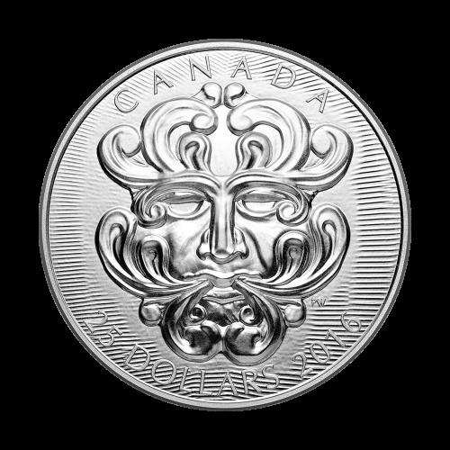 2016 Sculptural Art of Parliament | Grotesque Foliated Green Man Silver Coin