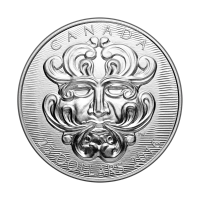 2016 Sculptural Art of Parliament | Grotesque Foliated Green Man Silver Coin