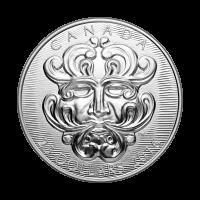 Silbermünze - Skulpturkunstwerk des Parlaments | Grotesker Blätter getriebener grüner Mann - 2016