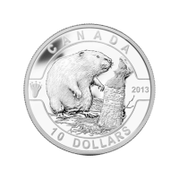 1/2 oz 2013 O Canada Series | The Beaver Silver Coin