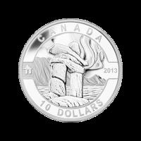 1/2 oz 2013 O Canada Serie | Inukshuk Poolbeer Zilveren Munt