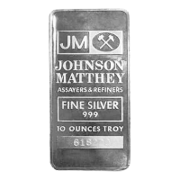 10oz Johnson Matthey Vintage Silver Bar