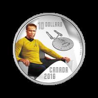 1/2 oz Silbermünze - RCM Star Trek™ | Captain Kirk - limitiert 2016