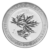 1,5 oz kanadische Silbermünze - Ahornblatt Superblatt - 2016