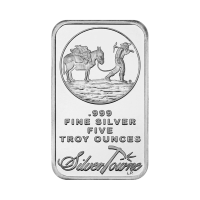 5 oz Silvertowne Prospector Silver Bar