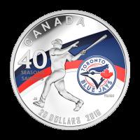 1 oz Silbermünze - Zur Feier der 40. Saison der Toronto Blue Jays - 2016