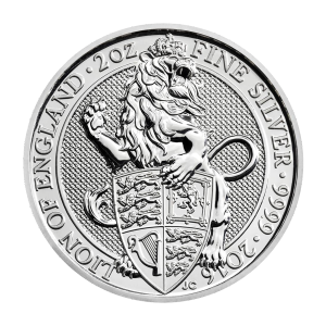 2 oz 2016 Royal Mint Queen's Beasts | Lion of England Silver Coin