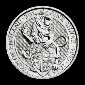 Les bêtes de la reine de la Royal Mint 2016 de 2 onces | Pièce d'argent Lion d'Angleterre