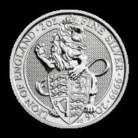 2 oz Silbermünze der königlichen Münzanstalt - Die Tiere der Königin    Löwe von England 2016