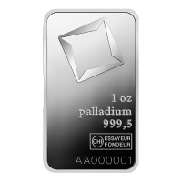 1 oz Valcambi Palladium Bar