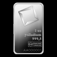 Lingot de palladium Valcambi de 1 once