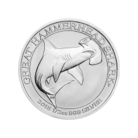 1/2 oz 2015 Perth Mint Great Hammerhead Shark Silver Coin