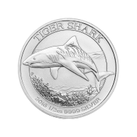 1/2 oz Silbermünze - Tigerhai - Perth Mint 2016