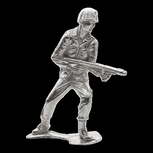 Satz von 6 x 1 oz Armeesoldaten - Silbersoldaten