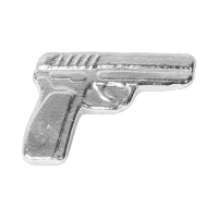 גוש כסף מוצק ידני Monarch Viking Handgun משקל שתי אונקיות
