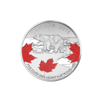 1/4 oz 2016 True North $25 For $25 Colourized Silver coin