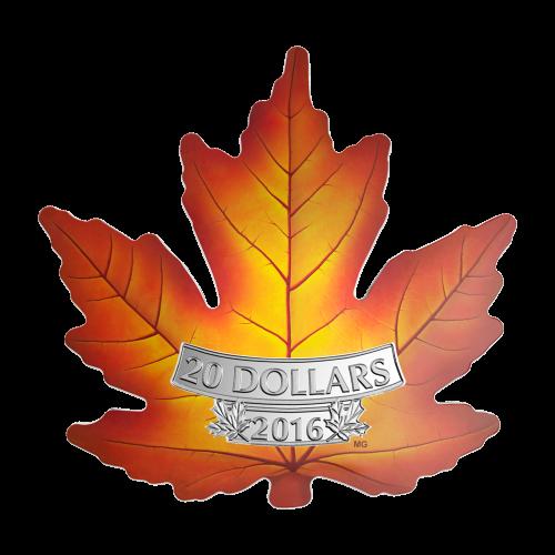 1 oz 2016 Canada's Colourful Maple Silver Coin