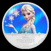 1 oz polierte Platte Silbermünze - Disney Die Eiskönigin - Völlig unverfroren | Elsa - 2016