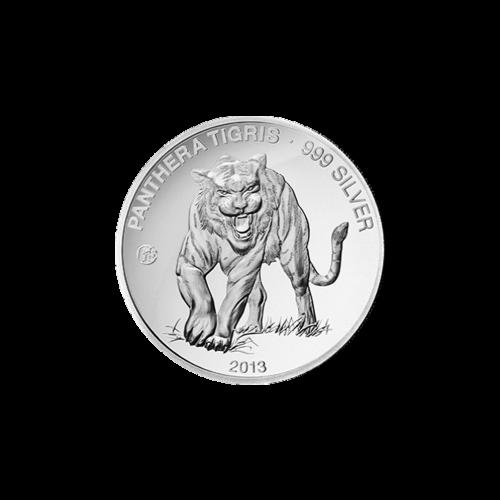 2013 Laos Tiger F15 Privy Silver Proof Coin