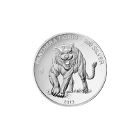 2013Laos Tiger F15 Privy Silver Proof Coin
