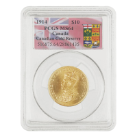 $10 Goldmünze - kanadische Goldreserve PCGS MS-64 1914