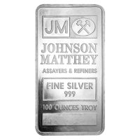 100 oz Johnson Matthey Vintage Silver Bar