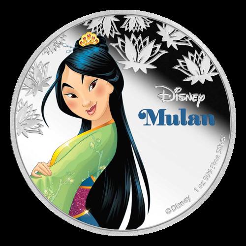 Pièce d'argent Princesse Mulan de Disney 2016 de 1 once