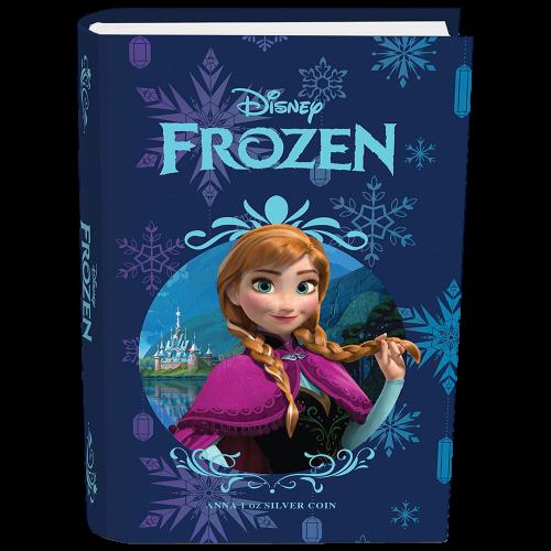 1 oz polierte Platte Silbermünze - Disney Die Eiskönigin - Völlig unverfroren   Anna - 2016